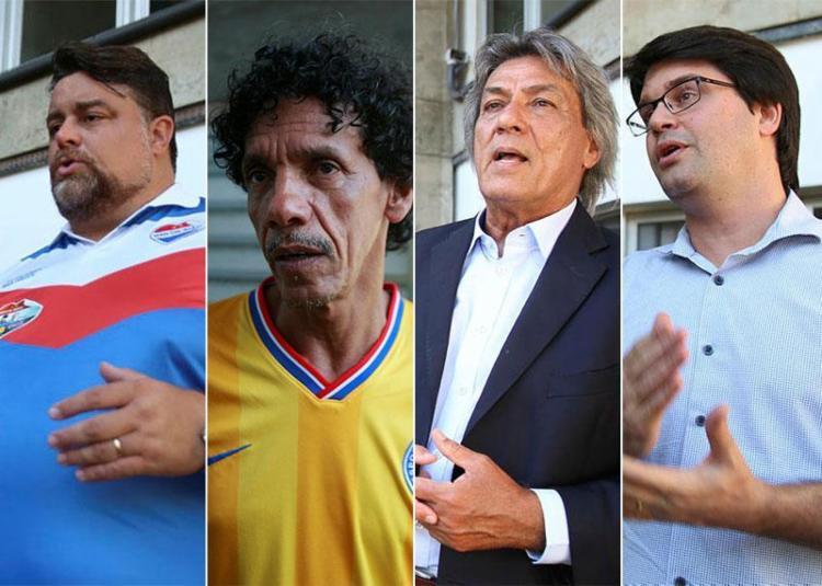Quatro candidatos estão na disputa por Presidência do Bahia - Foto: Joá Souza e Luciano da Matta | Ag. A TARDE