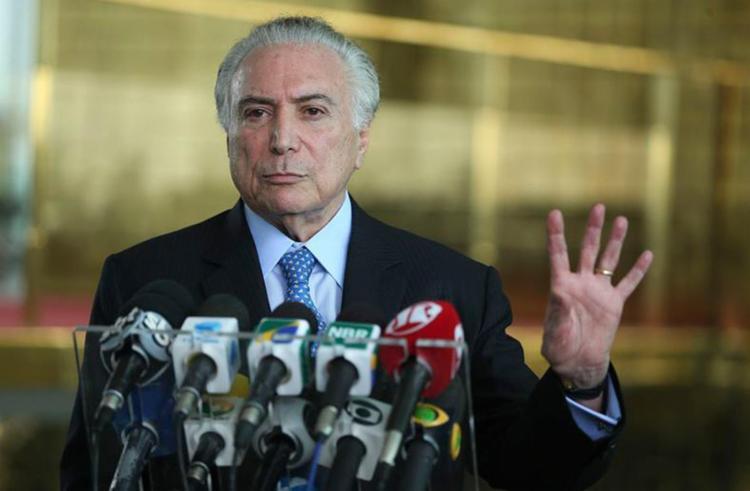 Temer condenou as ameaças que Fachin disse que recebeu - Foto: José Cruz l Agência Brasil