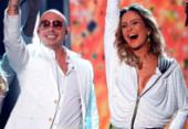 Claudia Leitte anuncia participação do rapper Pitbull no Carnaval | Foto: AFP