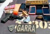 Trio é preso após assaltar ônibus na BR-324 | Foto: Divulgação | SSP-BA