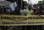 Comerciários protestam na Baixa dos Sapateiros contra retirada de ônibus | Foto: Divulgação | Sindicato dos Comerciários de Salvador