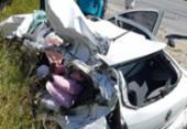 Homem morre e grávida fica ferida em colisão na BA-001 | Foto: Reprodução | Itamaraju Notícias