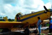 Avião colide com rede elétrica e faz pouso de emergência no sul da Bahia | Foto: Reprodução | Bahia Dia a Dia