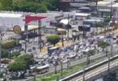 Protesto de motoristas de aplicativo congestiona avenida ACM | Foto: Divulgação | Transalvador