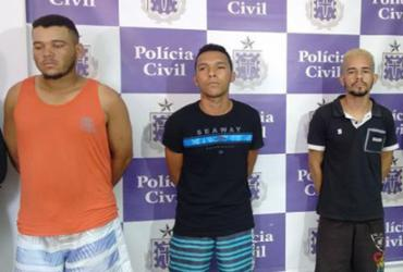 Trio suspeito de sequestro é preso ao tentar fugir com dinheiro de resgate