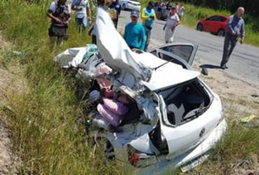 Homem morre e grávida fica ferida em colisão na BA-001 | Reprodução | Itamaraju Notícias
