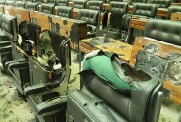 Plenário da Câmara passa por perícia após incêndio e é liberado | Divulgação