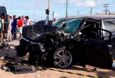 Duas pessoas morrem após colisão de carros em Feira de Santana | Ed Santos | Reprodução | Acorda Cidade