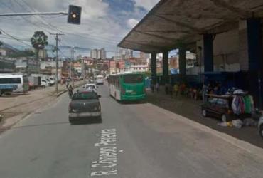 Dois ônibus colidem e sete passageiros ficam feridos na Sete Portas | Reprodução | Google Maps