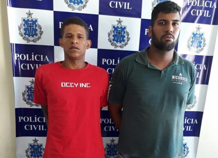 Dupla permanece custodiada na Delegacia Territorial de Santo Antônio de Jesus - Foto: Divulgação | Polícia Civil