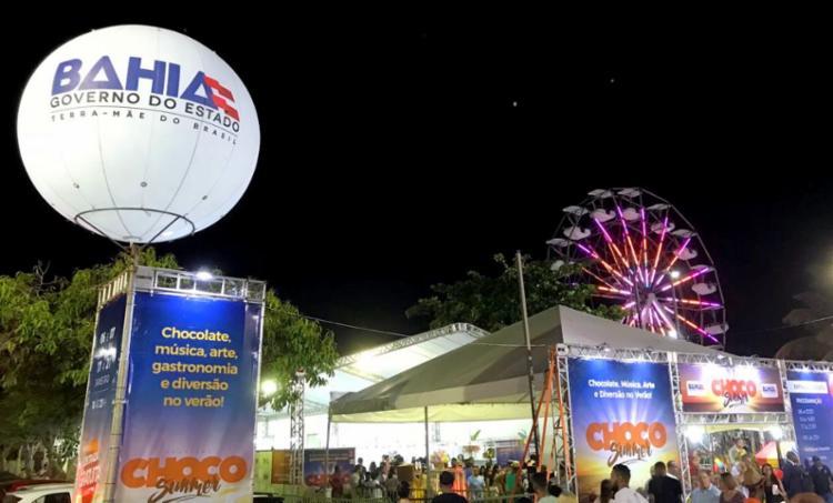 O Choco Summer é gratuito e segue até o dia 21 de janeiro, em Ilhéus - Foto: Divulgação/PMI