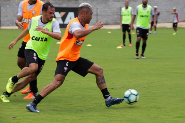 Bryan já treinava na Toca do Leão desde a última segunda, 8 - Foto: Maurícia da Matta | EC Vitória