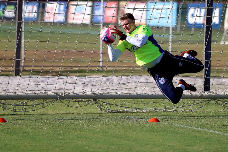 Douglas será o 4º gaúcho titular do gol tricolor neste século - Foto: Felipe Oliveira l EC Bahia
