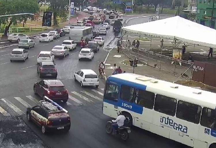 Tráfego segue lento nos acessos para Lavagem do Bonfim - Foto: Divulgação | Transalvador