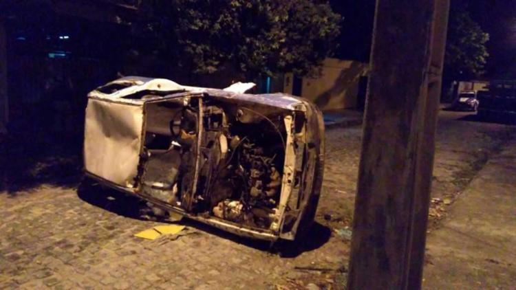 O veículo sucateado já foi retirado - Foto: Divulgação | Polícia Militar