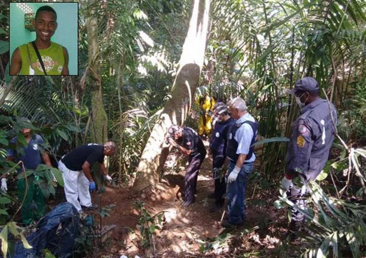 Além do corpo de Daniel, policiais localizaram uma ossada na mata; jovem estava desaparecido desde 23 de dezembro - Foto: Euzeni Daltro l Ag. A TARDE e Arquivo pessoal