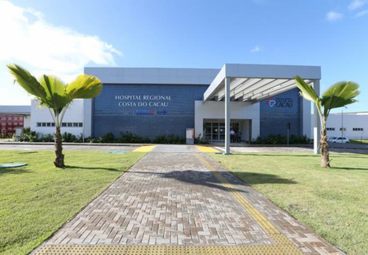 O Hospital da Costa do Cacau atende 70 municípios do Sul da Bahia e conta com 225 leitos - Foto: Mateus Pereira/GOVBA