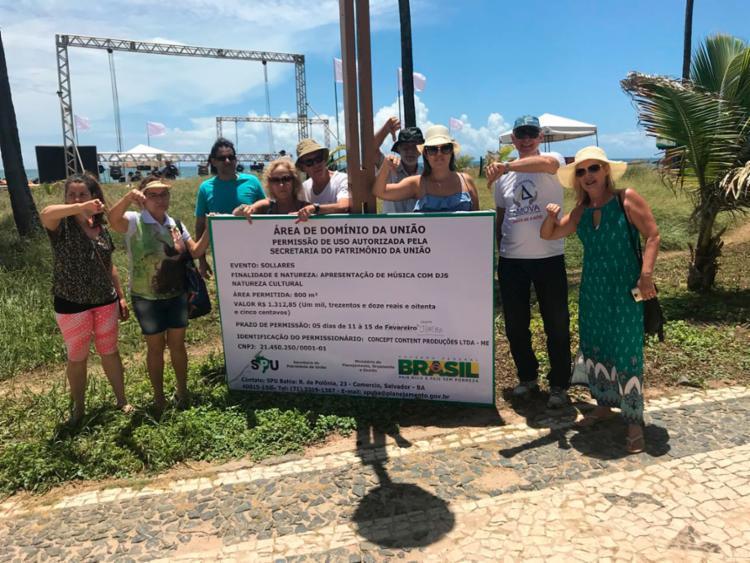Grupo se reuniu nas proximidades onde será realizado o evento - Foto: Arquivo Pessoal