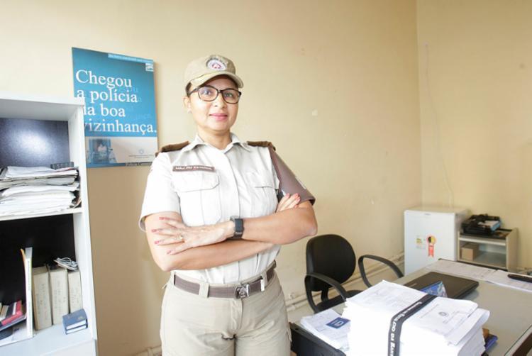 Major Patrícia responde pela Barra, região pioneira do Vigilância Participativa da PM - Foto: Mila Cordeiro   Ag. A TARDE