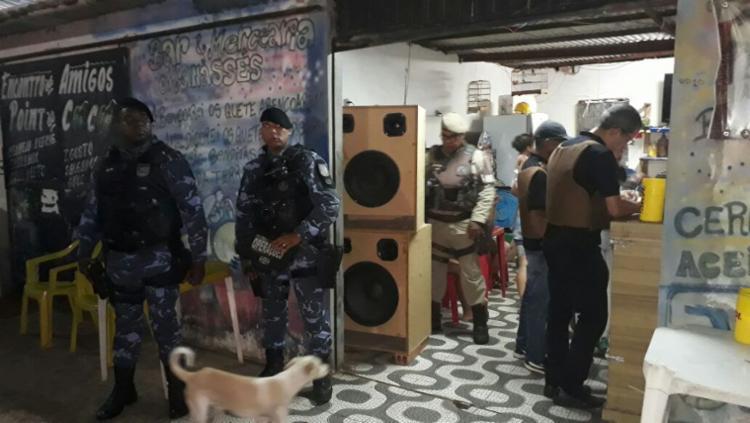 Três equipamentos de som foram apreendidos durante operação - Foto: Divulgação | Secretaria Municipal de Ordem Pública