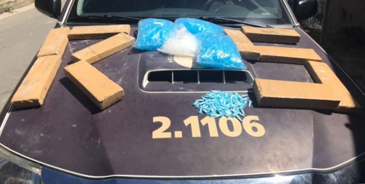 Material apreendido pela polícia durante ação na localidade conhecida como Água Suja - Foto: Divulgação | SSP