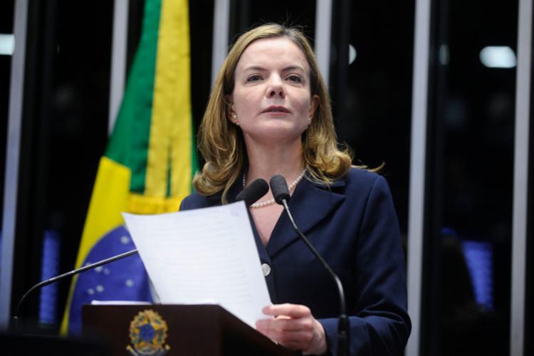 Após a repercussão a presidente do PT afirmou que usou uma 'força de expressão' - Foto: Moreira Mariz | Agência Senado
