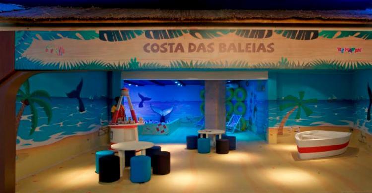 O espaço de 600 m² conta com ambientes simulando locais como a Costa das Baleias - Foto: Divulgação   SDB