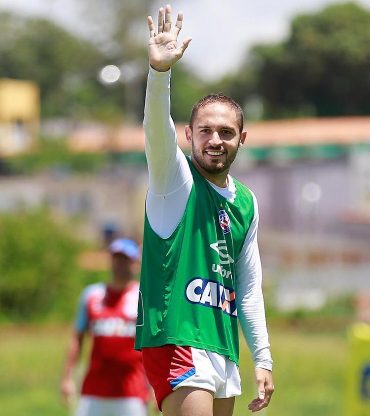 Meia diz que já está na história do clube após a conquista do Nordestão em 2017 - Foto: Felipe Oliveira l EC Bahia