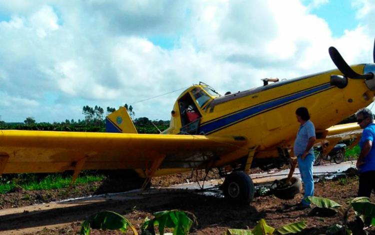 Aeronave realizava a pulverização de uma plantação de café em Itabela - Foto: Reprodução | Bahia Dia a Dia
