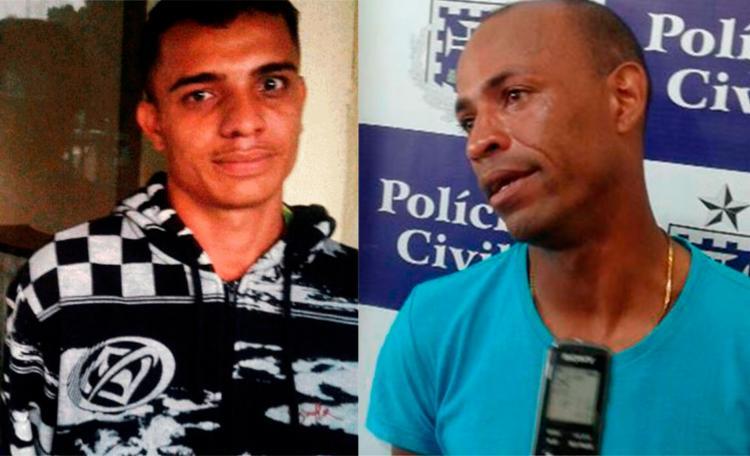 O pedreiro (à direita) e o ajudante estavam trabalhando na casa da vítima - Foto: Reprodução | Acorda Cidade