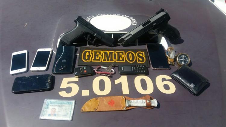 Material foi encontrado com suspeito no bairro de Itapuã - Foto: Divulgação   SSP
