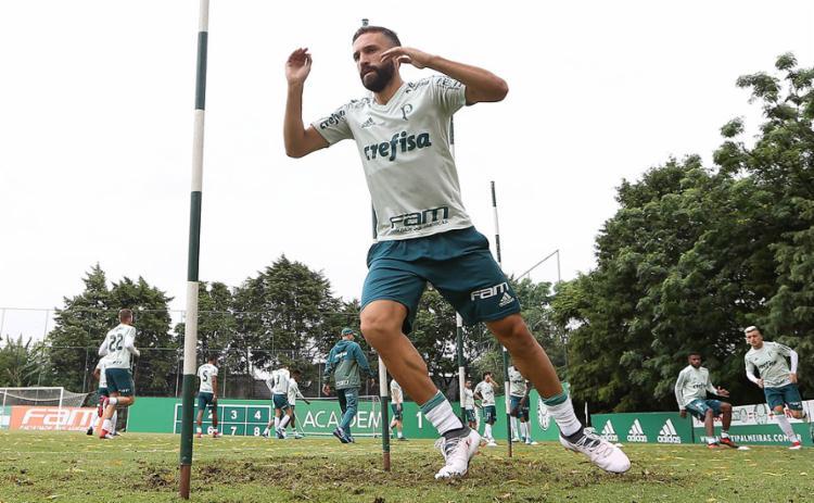 Allione fez a pré-temporada no Palmeiras, mas não será utilizado - Foto: Cesar Greco l Ag. Palmeiras l Divulgação
