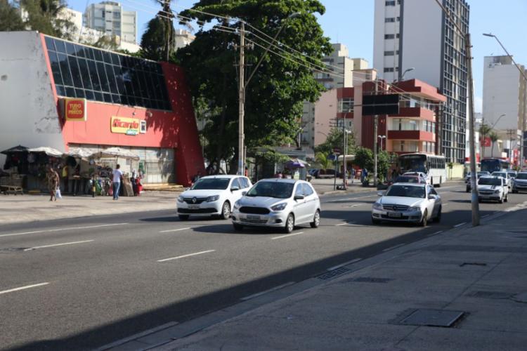 Estabelecimento alvo dos criminosos fica na avenida Manoel Dias - Foto: Alberto Maraux | SSP-BA