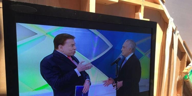 O presidente participou da gravação do programa de Silvio Santos nesta quinta - Foto: Reprodução | Twitter