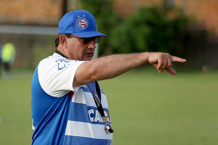 Guto Ferreira deve mandar a campo a maioria dos titulares do jogo de quinta-feira - Foto: Felipe Oliveira l EC Bahia