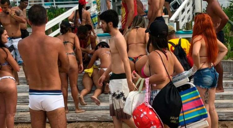 Larisse Isídio da Silva foi atingida na praia da Reserva, na Barra da Tijuca - Foto: Reprodução | WhatsApp