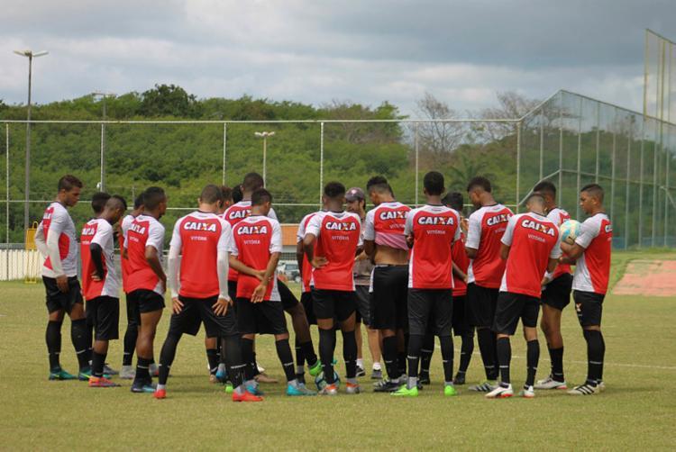Jogadores da base do Vitória treinam para a competição - Foto: Maurícia da Matta | EC Vitória | Divulgação