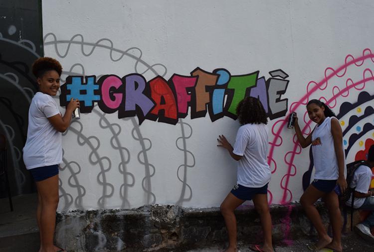 Em 2017, o #Grafitaê foi implantado em 270 escolas, alcançando 209 mil estudantes da rede estadual - Foto: Emerson Santos/GOVBA