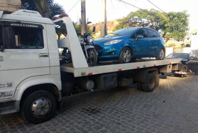 Sete carros e sete motocicletas foram apreendidos pela PM - Foto: Divulgação | SSP