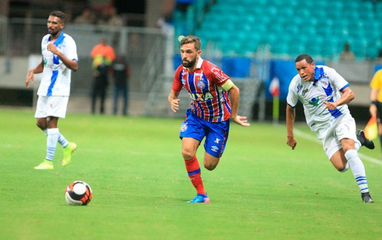 Meia foi um dos destaques do Tricolor na temporada passada - Foto: Adilton Venegeroles | Ag. A TARDE | 18.03.2017
