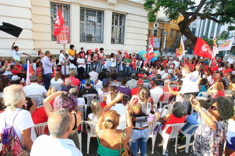 Júri popular ocorreu na tarde desta terça-feira, 23, no Largo do Campo da Pólvora - Foto: Mila Cordeiro l Ag. A TARDE