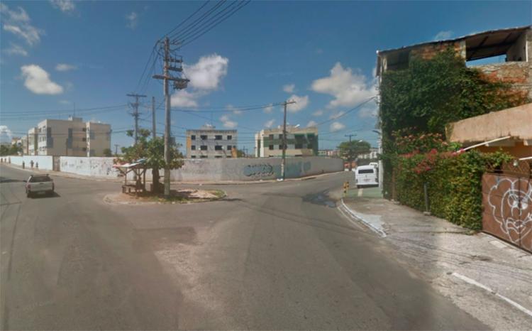 O grupo está bloqueando a entrada do Jardim Santo Inácio - Foto: Reprodução | Google Maps