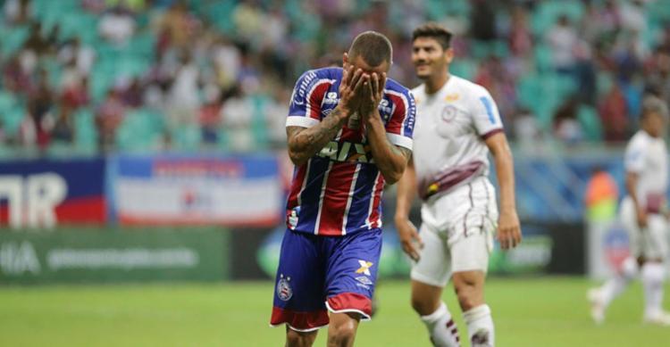 Vinícius marcou primeiro gol do Bahia no jogo - Foto: Margarida Neide | Ag. A TARDE