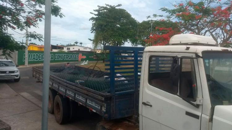 Um caminhão era utilizado para roubar os equipamentos - Foto: Divulgação | SSP-BA