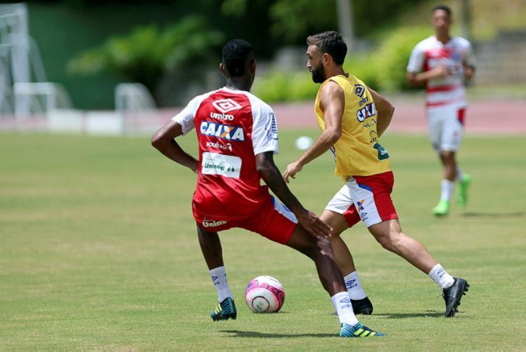 Allione começou a treinar no Fazendão nesta semana - Foto: Felipe Oliveira / EC Bahia / Divulgação