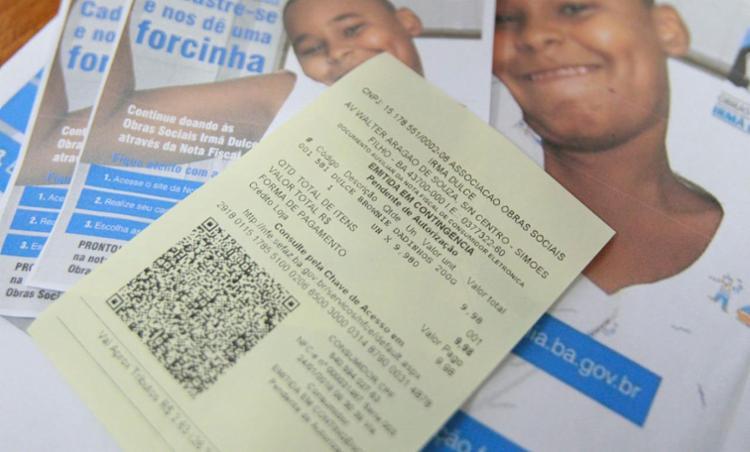 Antes o programa funcionava com a arrecadação da nota fiscal física - Foto: Alessandra Lori | Ag. A TARDE