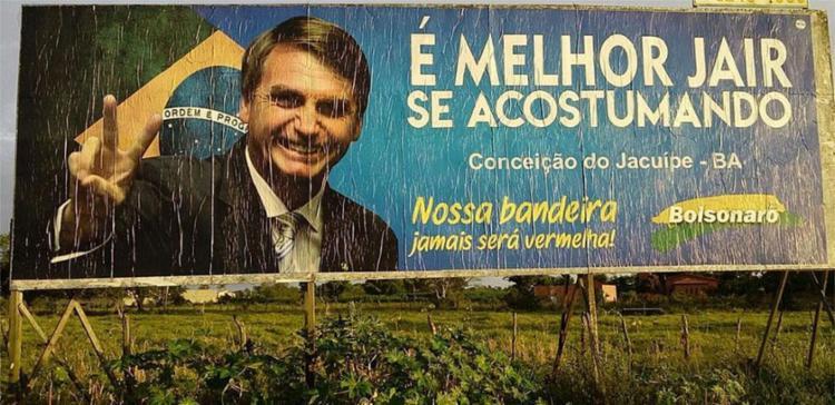 Fux não considerou outdoor instalado em Paulo Afonso propaganda eleitoral antecipada - Foto: Jacuípe Notícias | Reprodução
