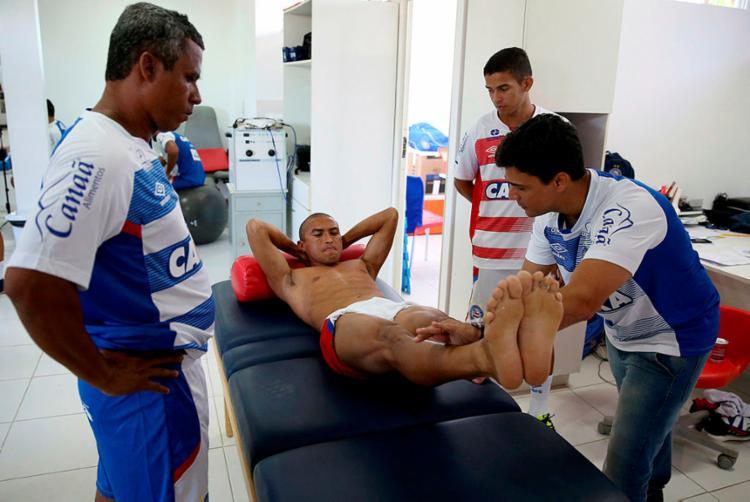Nino durante exames médicos no clube - Foto: Felipe Oliveira | EC Bahia | Divulgação