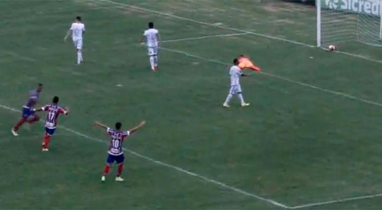 Rodrigo marcou o gol que deu o triunfo ao Esquadrãozinho - Foto: Reprodução