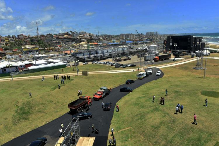 Ao lado do antigo Aeroclube, com 55 mil metros quadrados, arena chegou a receber 750 mil pessoas na virada - Foto: Max Haack | Secom PMS
